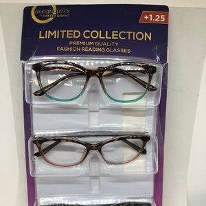 """""""As is"""" 3-pack Reading Glasses + 1.25"""